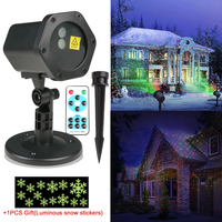 Christmas Decoration Outdoor RG Laser Light Projector Waterproof Lights For Holiday Xmas Tree Decorations Garden Lighting