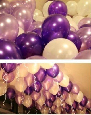 10'' 100PCS Latex Free Metallic Color Balloons for Wedding Party Birthday Decorations