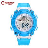 2017 MINGRUI Watch Children Girls Boys Waterproof Silicone Sport Watches Students Kids Fashion LED Digital Watches