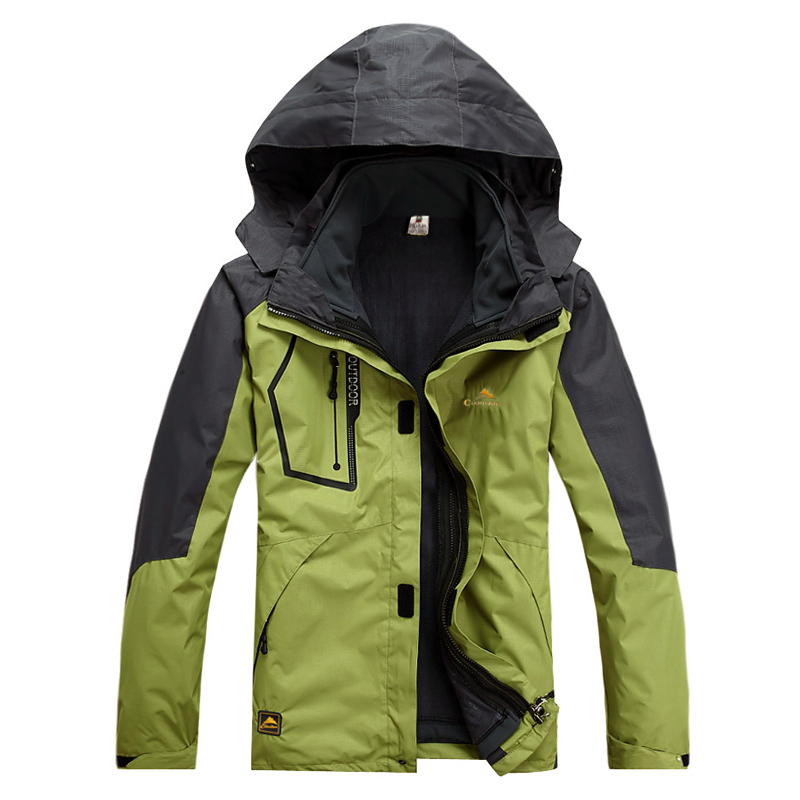 Men Outdoor Winter Climbing Camping Water Resistant Coats Jacket Outerwear Hoodied Sports Ski Snowboard Outdoor Jacket 2015 new outdoor climbing clothes two piece men sports suits coats winter waterproof men s skiing jacket snowboard outerwear