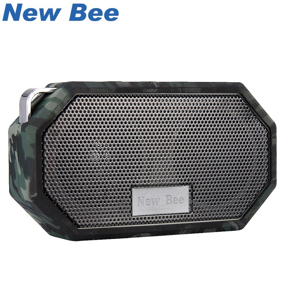 ניו דבורה Waterproof Bluetooth רמקול מיני מיני סאבופר מקלחת רמקולים ניידים ידיים דיבור חינם Mic עבור טלפון PC