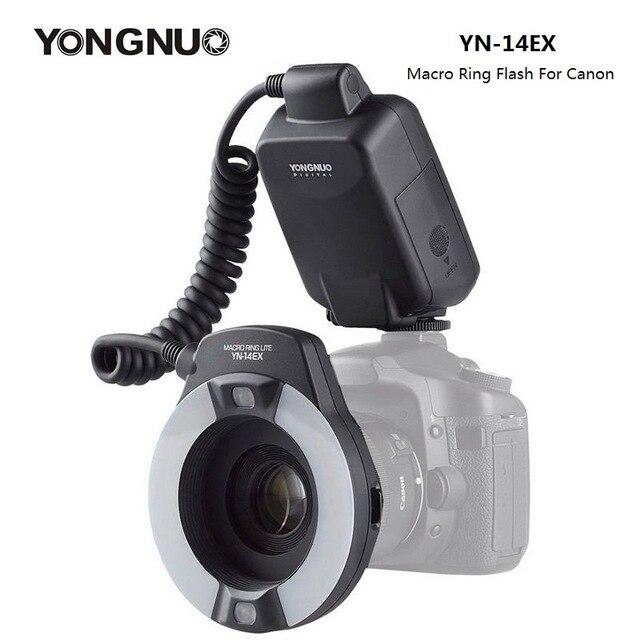 Yongnuo YN 14EX TTL pierścień makro Lite lampa błyskowa Speedlite do Canon 5D Mark II 5D Mark III 6D 7D 60D 70D 700D 650D 600D 5Ds 5Dsr w Lampy błyskowe od Elektronika użytkowa na  Grupa 1