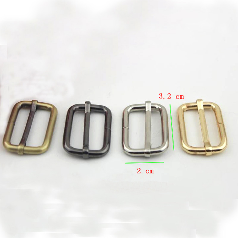 Strap Adjuster Rectangle Sliders Light Gold 32 Mm 1 1/4 Inch