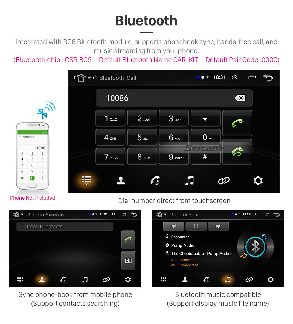 "Top Seicane 10.1"" Android 8.1 car Radio GPS Navigation for 2007-2017 Toyota Cruiser FJ with Touchscreen Bluetooth OBD2 WiFi AUX SWC 10"