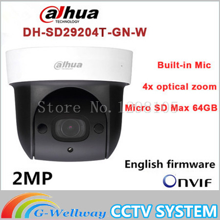 Dahua SD29204T-GN-W replace SD29204S-GN-W 2Mp Network Mini IR WIFI PTZ IP WIFI Speed Dome Camera English Firmware Free Shipping сочи2014 alion t pat ip5h gn