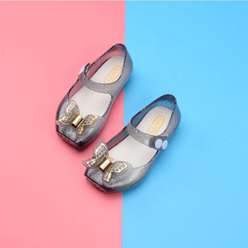 New Baby Girls Princess Shoes Princess Sandals Butterfly Decoration Crystal Kids Sandals For Girl Summer Casual Shoes Melissa  ...