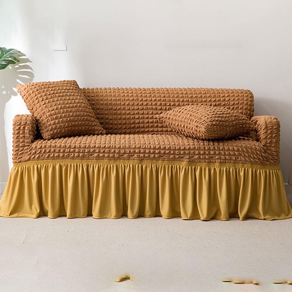 Euro Jacquard Sofa Covers With Skirt Elastic Sofa Covers For Living Room Couch Covers For Sofas Furniture Sofa Slipcovers