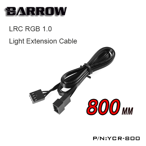 Barrow LRC RGB 1.0 12V Extension Cable RGB 12V fan , Light strip Connect Line 800mm YCR-800 2