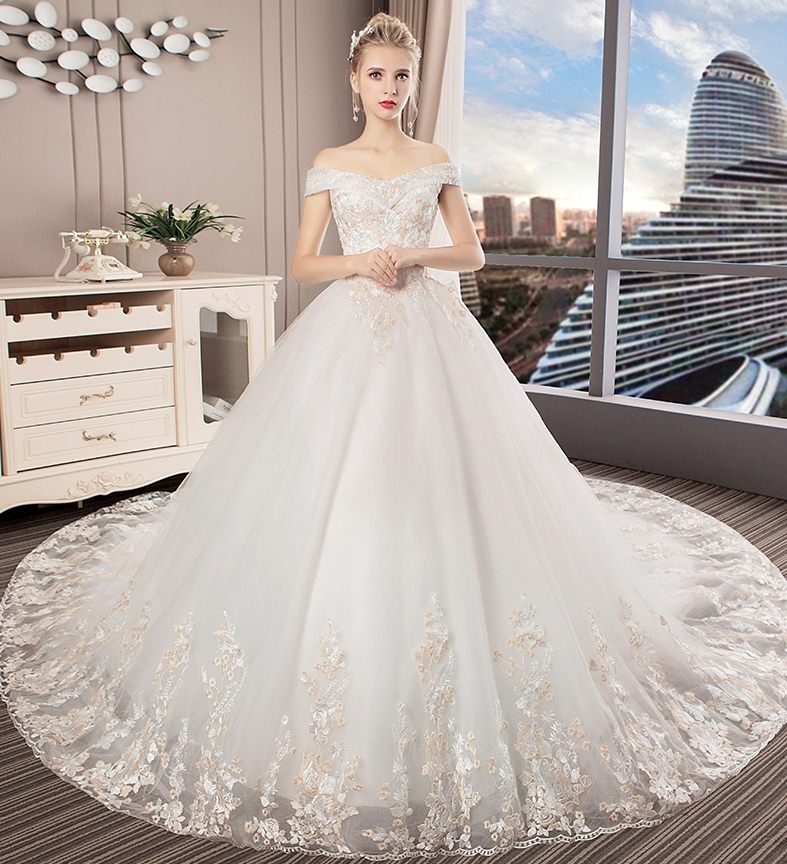 lace Luxury Ball Gown Wedding Gowns 2018 robe de mariage Mid-East vestido noiva Princess Bridal Dresses mariee