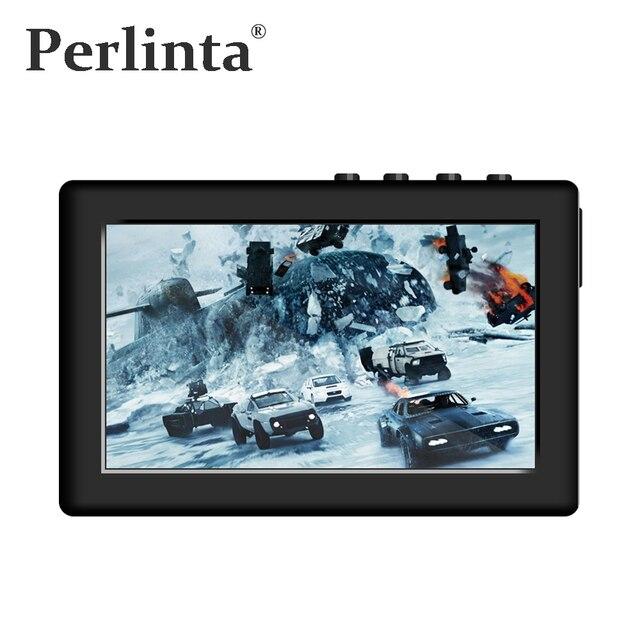 Perlinta MP3 MP4 MP5 וידאו נגן, 8 GB זיכרון מובנה, 4.3 אינץ מגע Resistive מסך וכפתור מפתח כפולה בקרת מוסיקה נגן