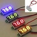 De alta Calidad de 0.28 Pulgadas DC 2.5 V-30 V Mini Digital LED Del Voltímetro Voltaje Tester Meter Rojo Verde Amarillo