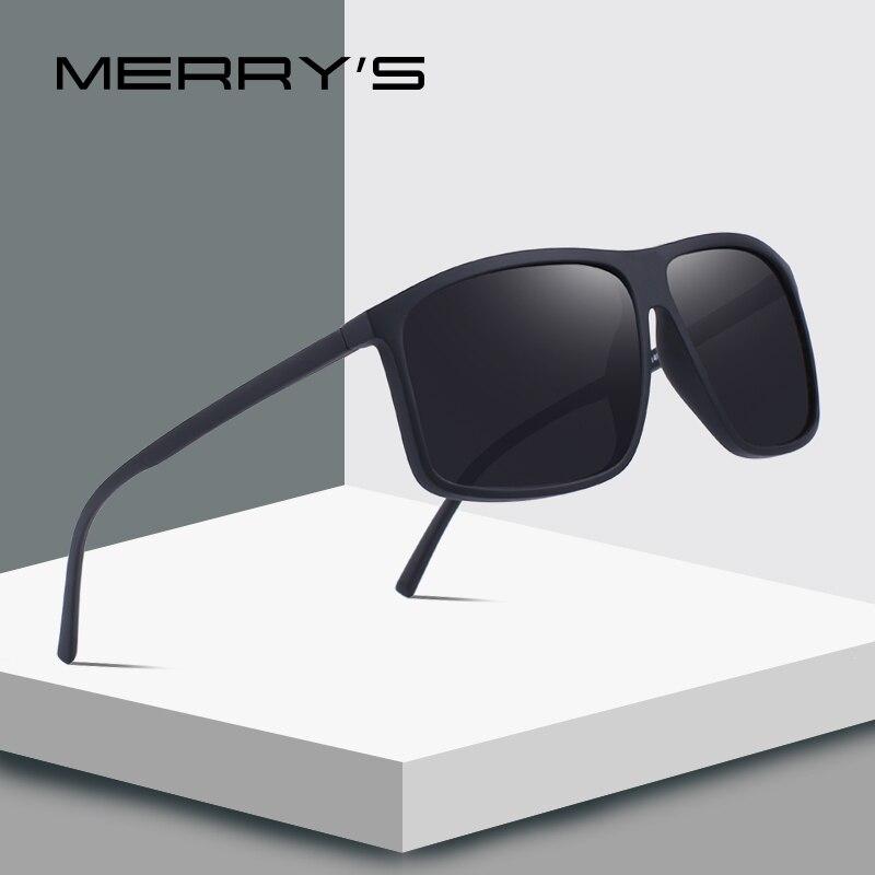 MERRY'S diseño hombres clásico gafas de sol polarizadas para conducir pesca deportes al aire libre de la luz Ultra-de la serie 100% de protección UV S'8511