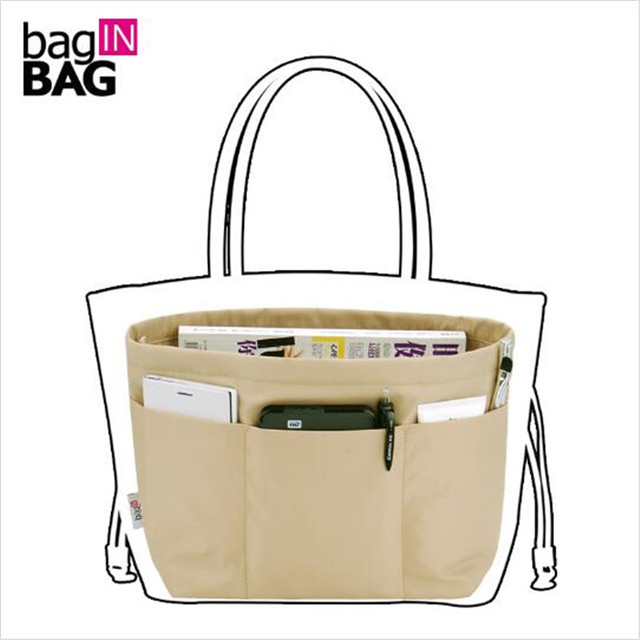 baginBAG Insert Organizer Bag (Small Top Big Bottom) Travel Organizer Cosmetic Bag Organizador Bolsa