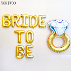 YORIWOO Wedding Team Bride To Be Balloons Miss To Mrs Bachelorette Party Decorations Hen Party Accessories Bridal Shower Favors