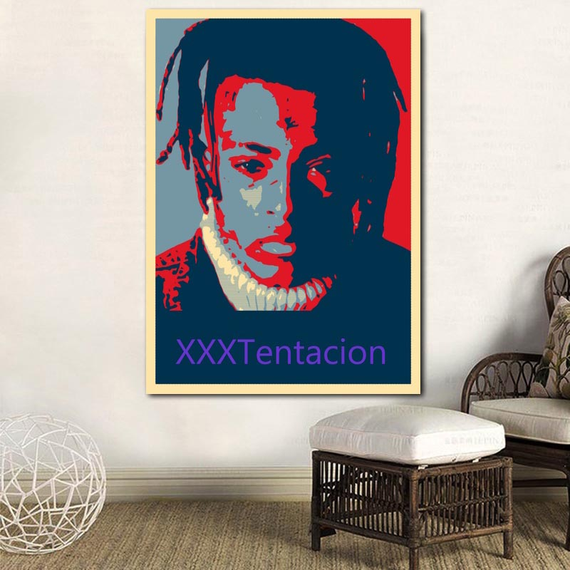 Canvas Painting Wall Art Prints Home Decor Pictures XXXtentacion Music Star Poster Modern Nordic Style Modular For Living Room