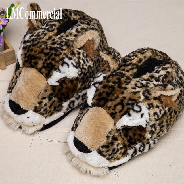 0d6f2f48e Special new Christmas cheetah, home slippers pantoffels women men indoor  slippers winters Custom home shoes
