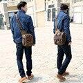 Nuevo bolso del hombre de la lona de la vendimia hombres con estilo Europeo hombro versátil Messenger bags uk masculino de cuero bolso de crossbody envío gratis