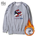 HanHent 2016 Winter American Fleece Hoodies Men Thick Man's Streetwear Fitness Clothing USA Sweatshirt Pullover Boys AD0746