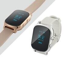 2016 Reloj de Pulsera con Pantalla Táctil de apoyo SOS GPS SmartWatch T8 tarjeta de la ayuda sim de llamadas sms moda smart watch para android iOS