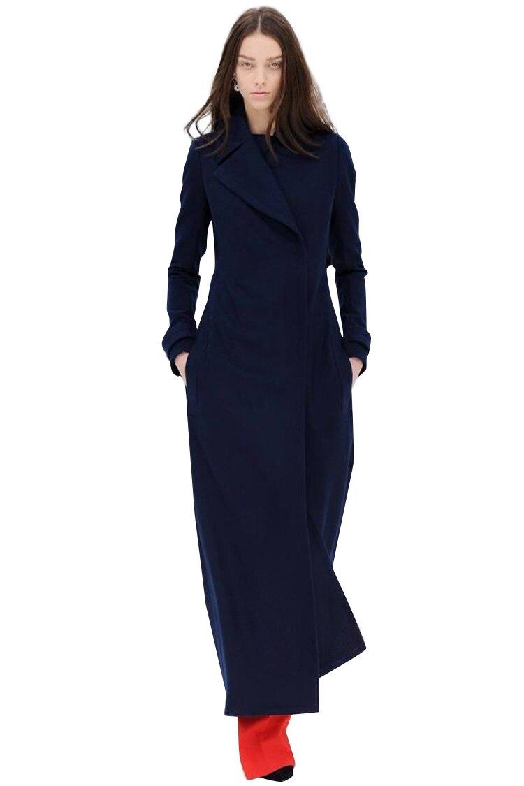 2019 Laine Revers X De D'hiver Chaud Slim Mode En Manteau Femmes Et Femme Automne Nouvelles Navy longue Loisirs Lâche Veste Vestes z1Pwzrx