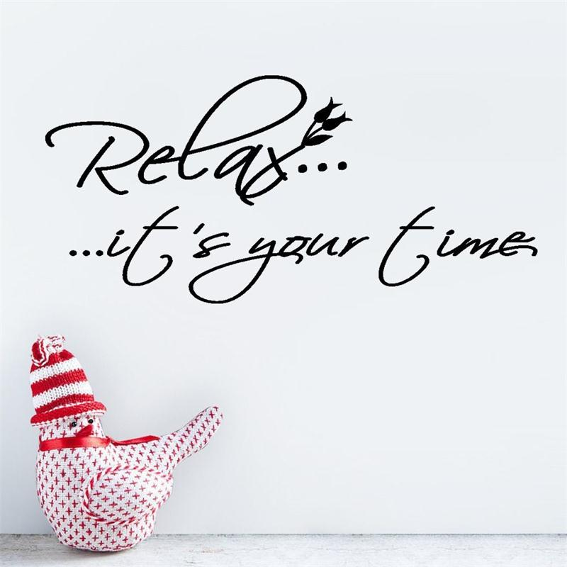 relax it s your time vinyl wall quotes lettering words saying