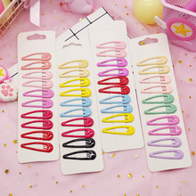 10pcs/set Simple Colorful Dripping Oil Childrens BB Hair Clips for Child Girl Cute Candy Colors Hairpins Headdress 5cm