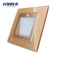 Free Shipping Livolo New A Rrival UK Standard Porch Corridor Corner Lamp Footlights Switch VL W291JD