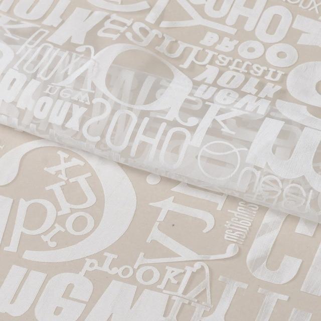 Tenda di finestra Burnout Tulle Tessuto Voile Trasparente Puro Lettera Stampata Decorazione Domestica di Screening Tende Per Il Salone
