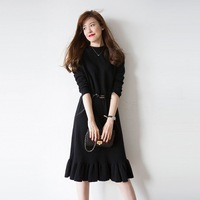 2017 spring new women's dress fish tail knitted dresses and long knit dresses XD 564
