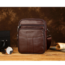 Vintage Men Cowhide Leather Messenger Mini Bags