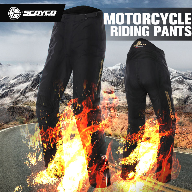SCOYCO Racing Motorcycle Pants Men's Winter Waterproof Windproof Fall-protection Trousers Motorbike Moto Night Reflective Pants scoyco mens motorcycle pants racing trousers winter summer p028