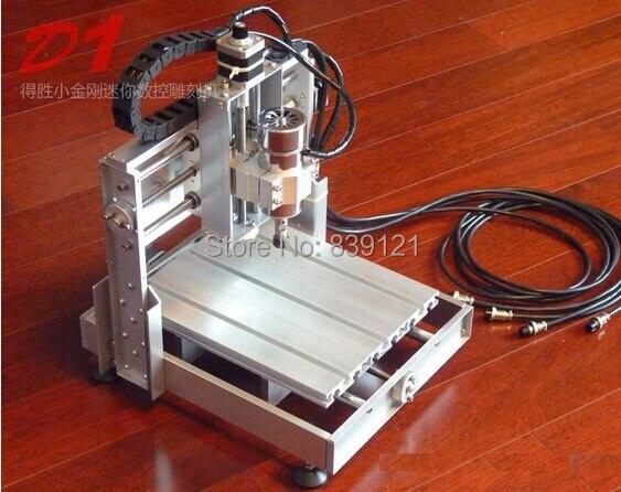CNC routeur kit métal fraiseuse métal gravure machine 300 w graver machine