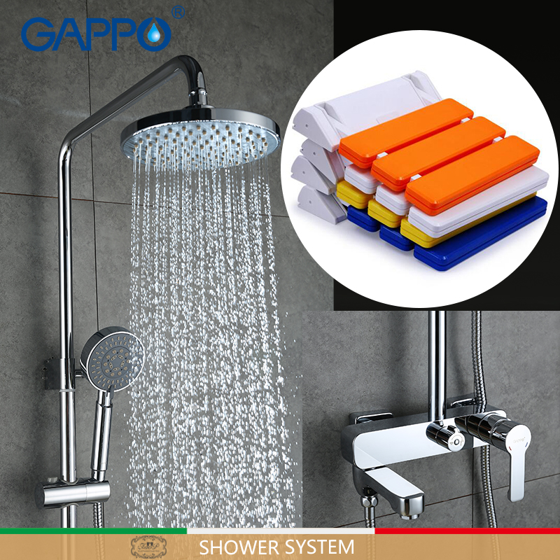 GAPPO Shower Faucets bathroom folding seat Bath tap mixers Wall Mounted Shower Seats Bath bench Shower System