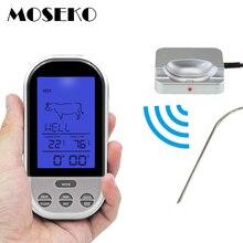 Moseko Draadloze Afstandsbediening Digitale Backlight Bbq Thermometers Oven Grill Vlees Koken Probe Voedsel Keuken Thermometer Met Timer