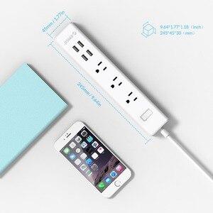 Image 5 - ORICO akıllı ev elektronik güç şeridi priz 3 AC çıkışları abd tak 4 USB bağlantı noktaları çok fonksiyonlu masaüstü soketi