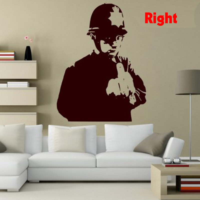 Custom Made Banksy Graffiti Rude Copper Art Wall Sticker Wall - Custom vinyl wall decals graffiti