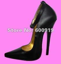Free shipping 16CM Heel Height Sexy Genuine Leather Pointed Toe Stiletto Heel Pumps Party Shoes heels US size 5-14.5 No.Y1602
