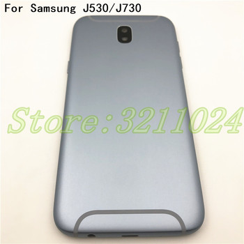 Metal For Samsung Galaxy J5 2017 J530 J530F J7 2017 J730 J730F Housing Middle Frame Battery Back Cover With Power Volume Buttons