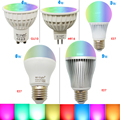 Pode ser escurecido 2.4g sem fio mi luz lâmpada led mr16 gu10 e27 lâmpada led 4 w 5 w 6 w 9 w rgbw rgbww smart 2.4g wireless 16 milhões de cores
