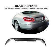 A Styling Carbon Fiber Car accessories Rear Bumper lip Diffuser For Benz W212 E550 E350 E300 Not For AMG bumper
