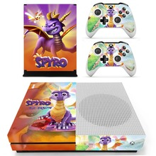 Game Spyro The Dragon Skin Sticker For Microsoft Xbox One S Console and 2 Controllers For Xbox One Slim Skin Sticker