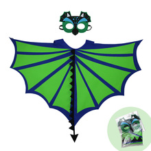 3-9 Y.O Special Green Flying Dinosaur Costume For Kids Dinosaur Themes Toys Party Costume Halloween Kids Birthday Party Cosplay adult green dinosaur inflatables halloween christmas rave party spoof clothes dinosaur toys mount