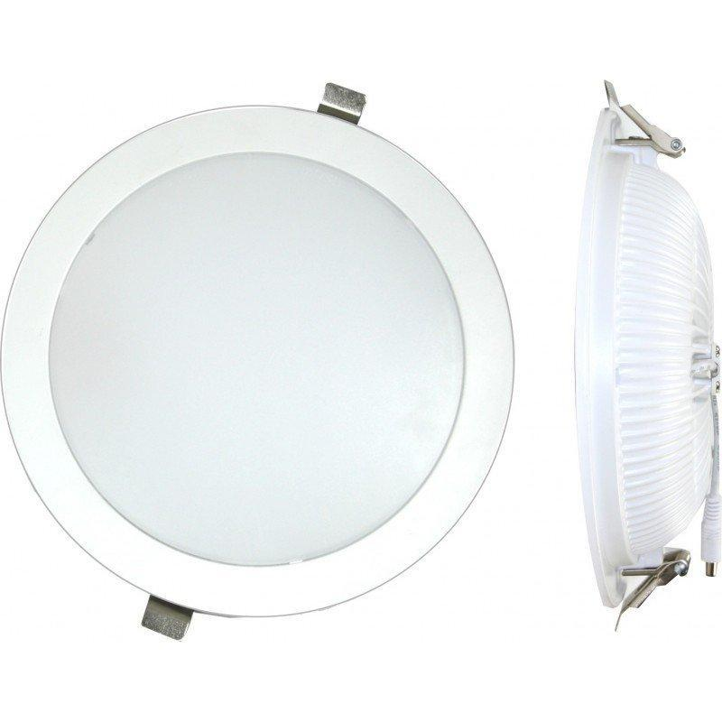 Downlight LED encastrable rond 25 W 6000 K blanc