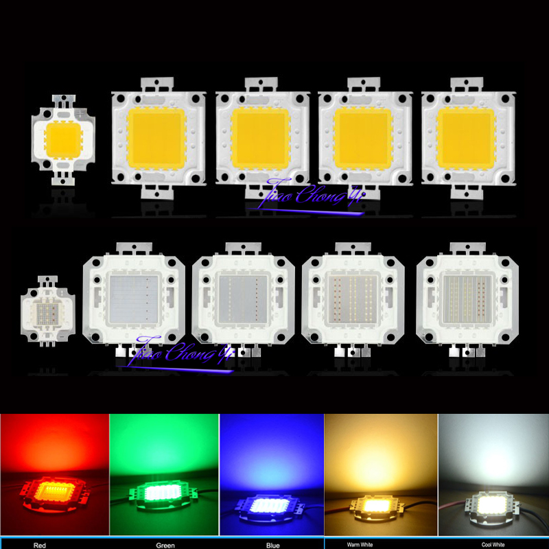 10W 20W 30W 50W 100W High Power LED Light COB Led Chips For Floodlight Lamp Led Spotlight White / Red / Green / Blue / RGB/UV