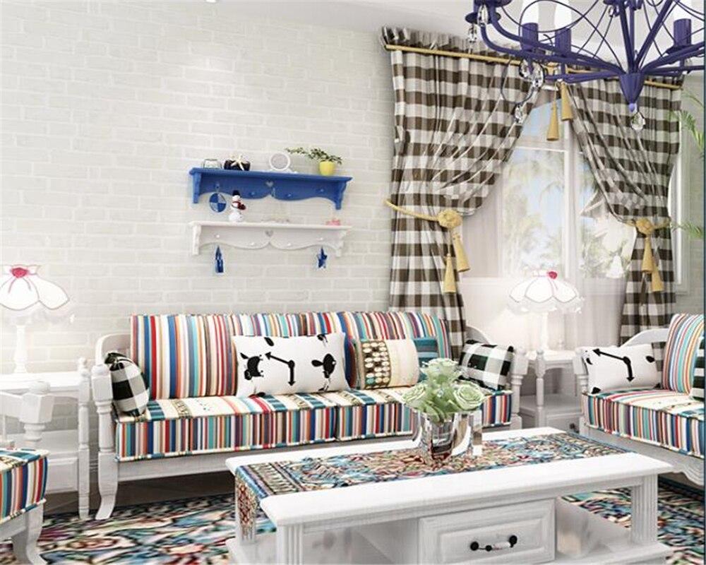 Beibehang moderne maison fond mur 3d papier peint Non-tissé brique papier peint plancher chambre salon mur 3d papier peint 10 m - 5