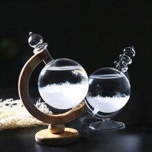 Хрустальная штормовая стеклянная бутылка в форме глобуса, Штормовая погода, бутылка, стеклянный барометр, предсказатель, Декор для дома и офиса, подарок на день рождения
