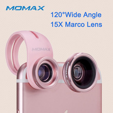 Momax Original Universal Front Back HD Phone Lens for iPhone Samsung Kit 15X Marco X-LENS Wide Angle Camera Lentes Fashion