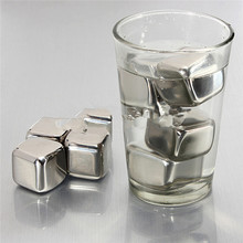 Sale New Stainless Steel Ice Cubes Cool Glacier Rock Neat Drink Freezer gel Wine Whiskey Stones Great Gift HOT