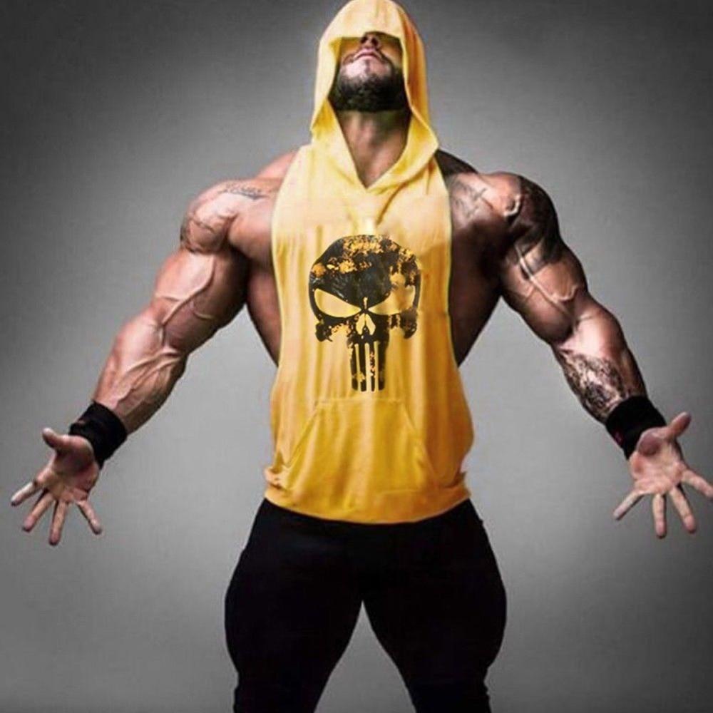 d1a1b6089e0662 Sukll Brand Hoodie Clothing Fitness Tank Top Men Stringer Golds  Bodybuilding Muscle Shirt Workout Vest gyms Undershirt Plus Size