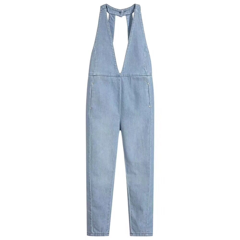 Boys Denim Overalls Spring autumn Fashion New Children Clothing Kids suspender trousers Solid Girls Casual jeans vintage single breasted solid color furcal denim suspender skirt
